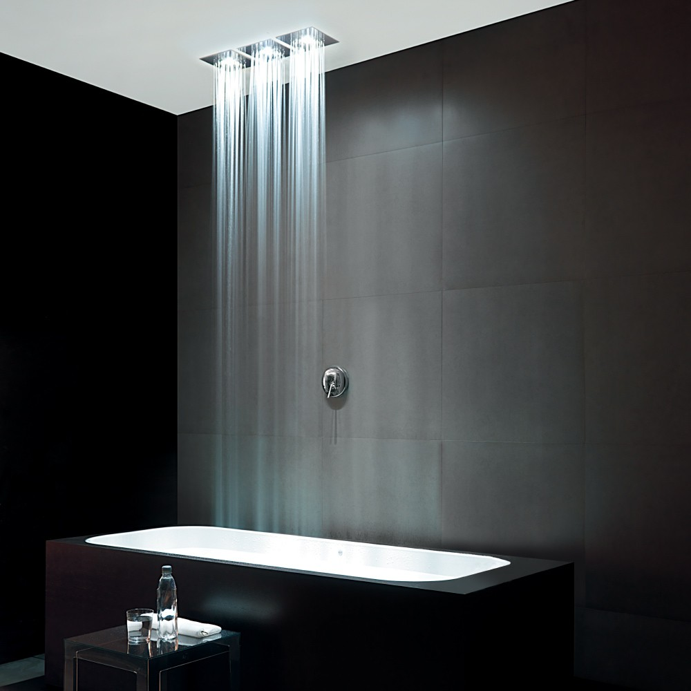 Shower heads tapware z94156 cirillo lighting and ceramics for Ceiling mounted bathroom lighting