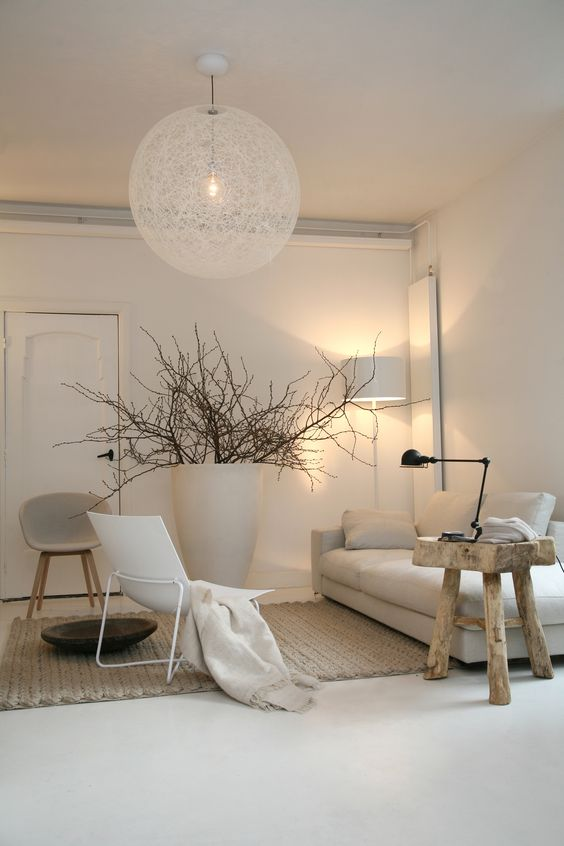 Beautiful Deco Salon Blanc Et Bois Images   Lalawgroup.Us