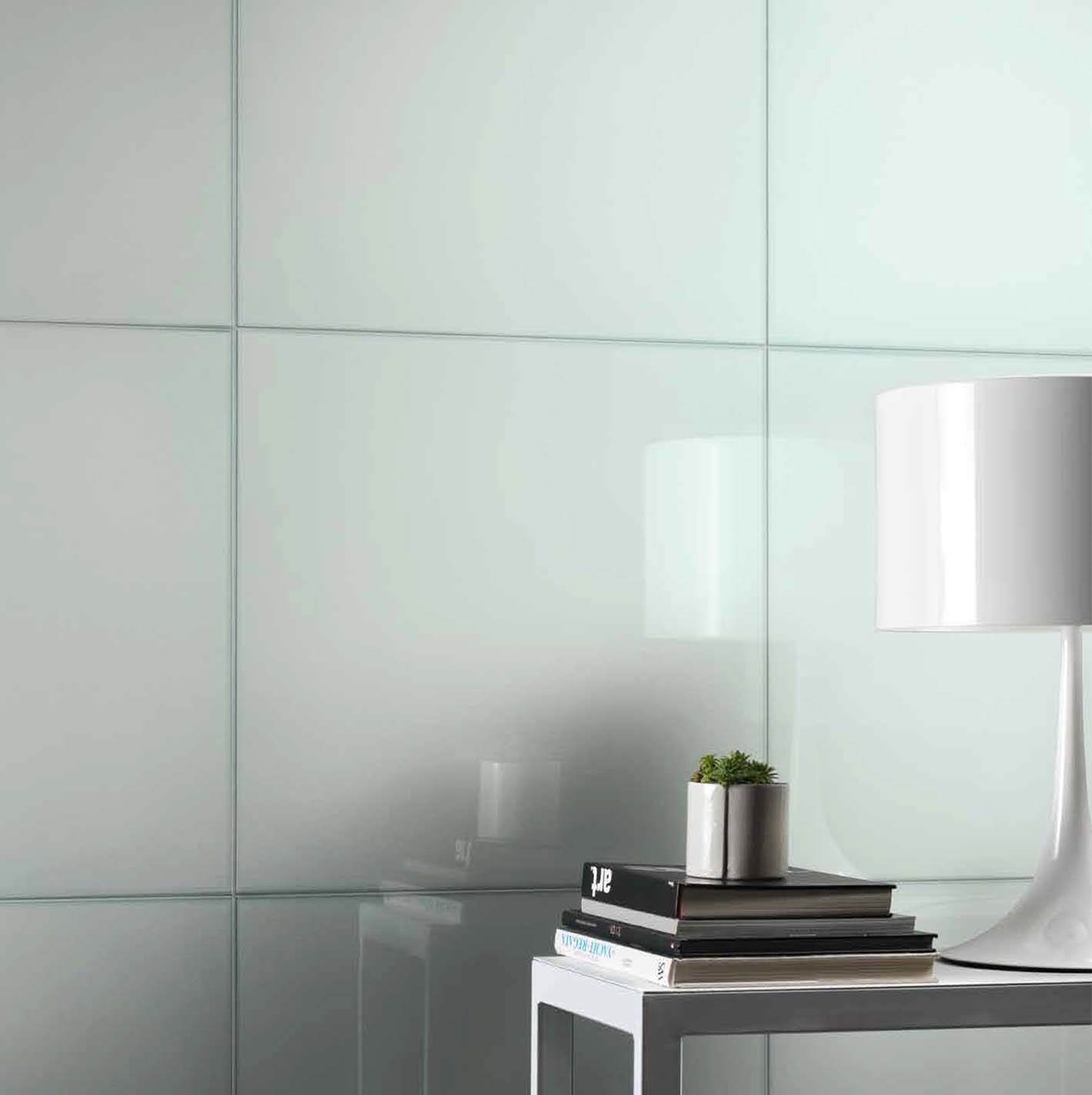 Sophisticated glass look tiles new in at Cirillo